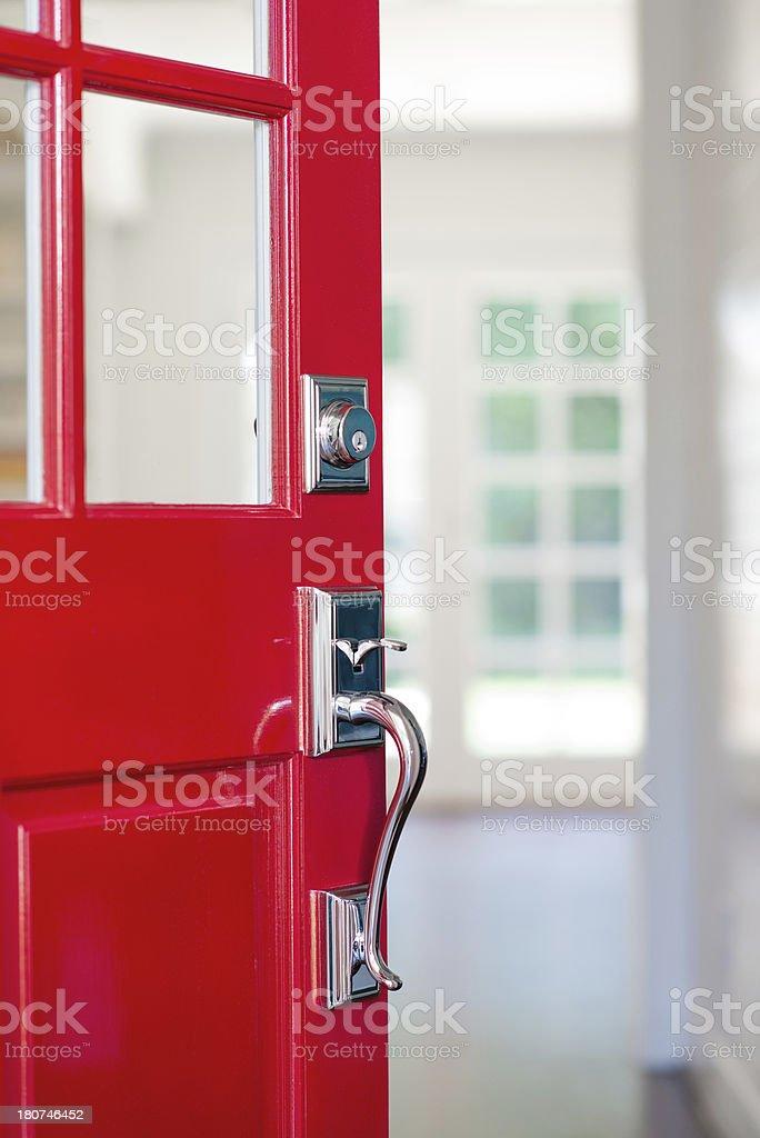 Open Red Front Door stock photo