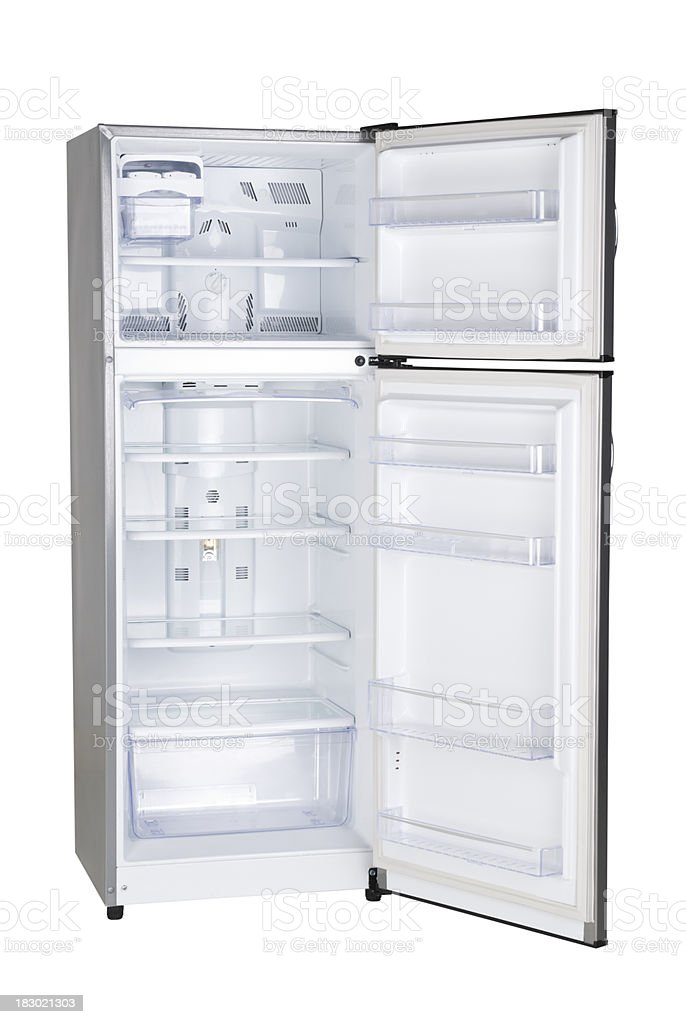 Open Refrigrator stock photo