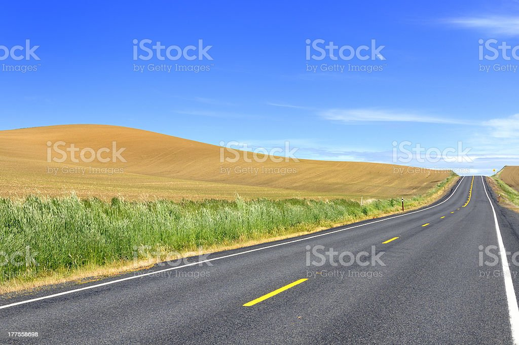 Open Road and Farmland royalty-free stock photo