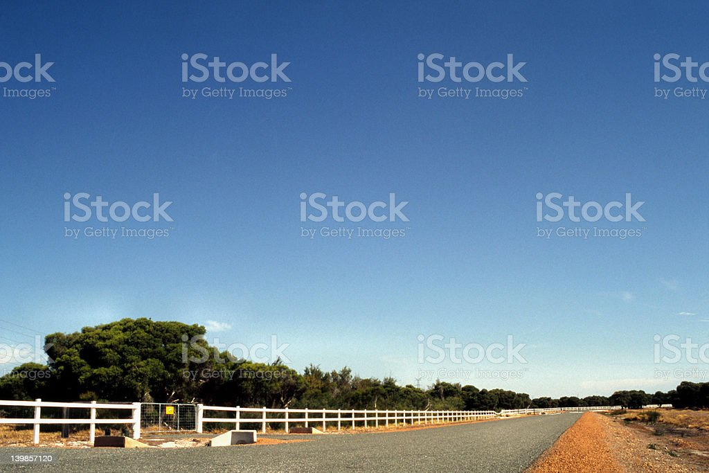 Open Road in the Outback royalty-free stock photo