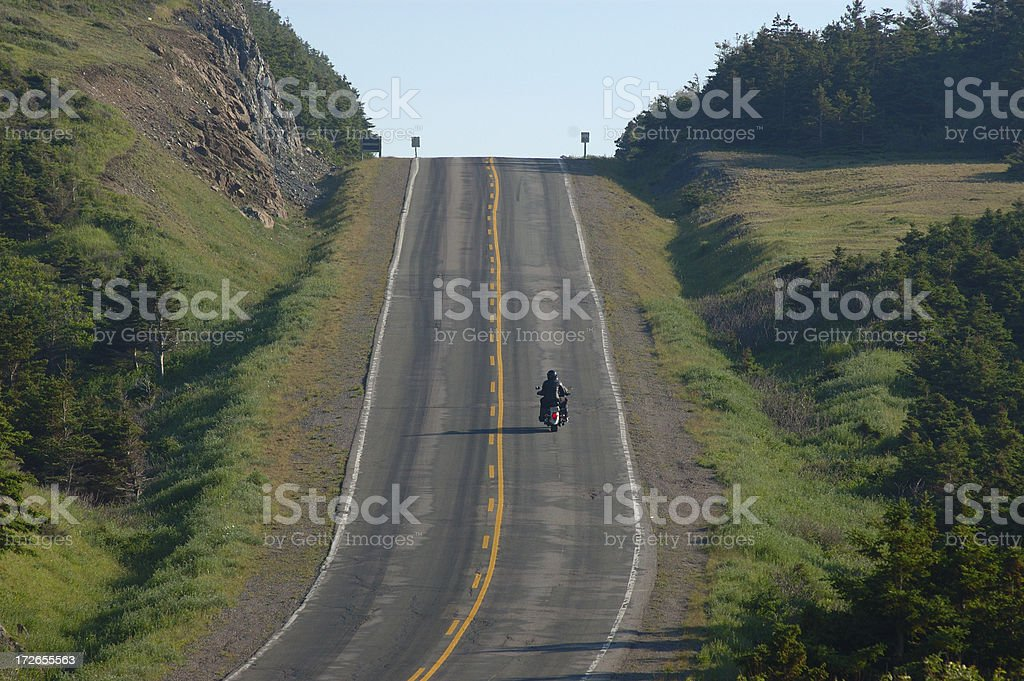 Open road - motorcycle stock photo