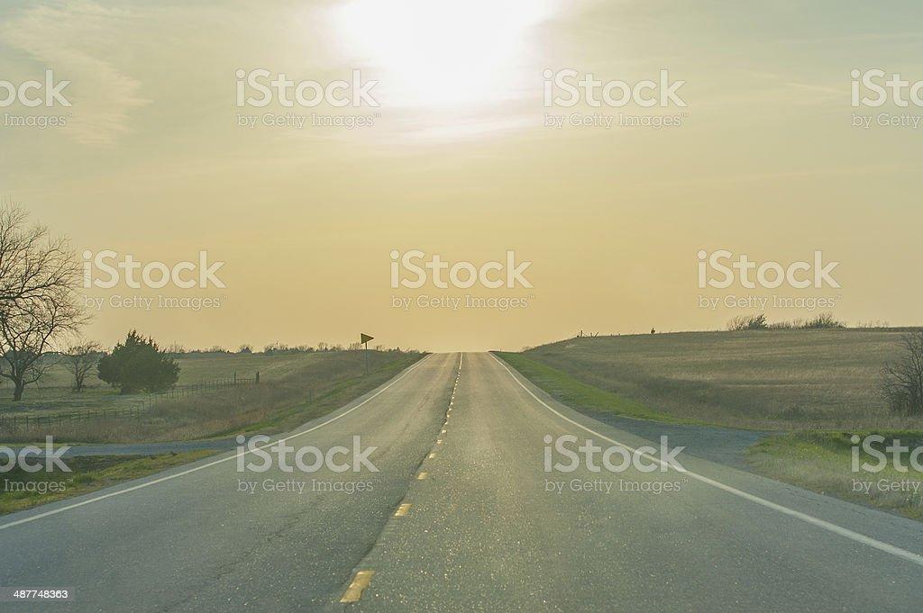 Open Road stock photo
