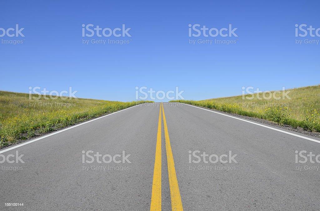 Open Road, South Dakota royalty-free stock photo