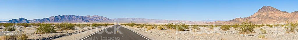 Open road, super wide vista royalty-free stock photo