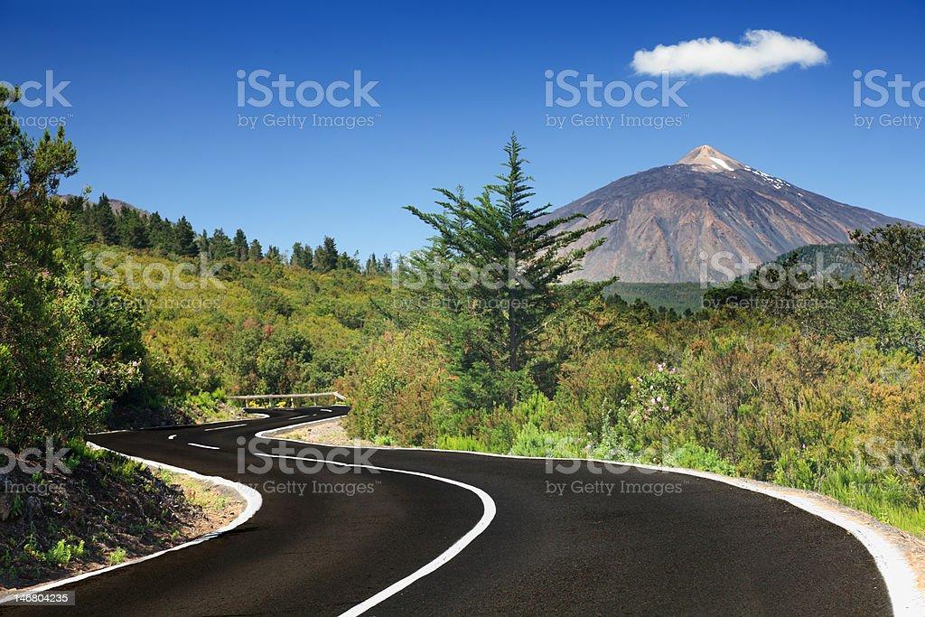 Open road Tenerife stock photo
