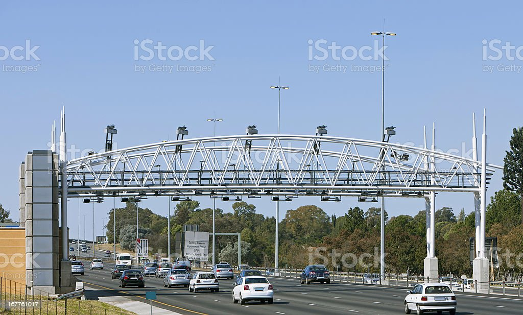 Open Road Toll Gate royalty-free stock photo