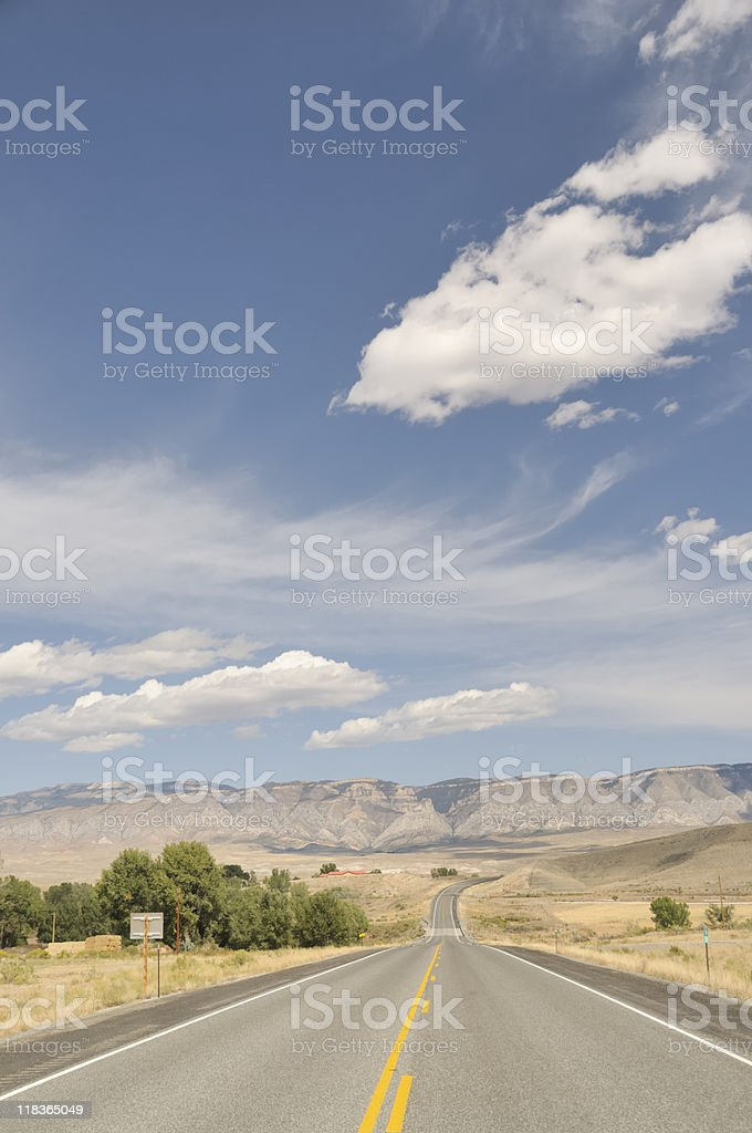 Open Road, Wyoming royalty-free stock photo