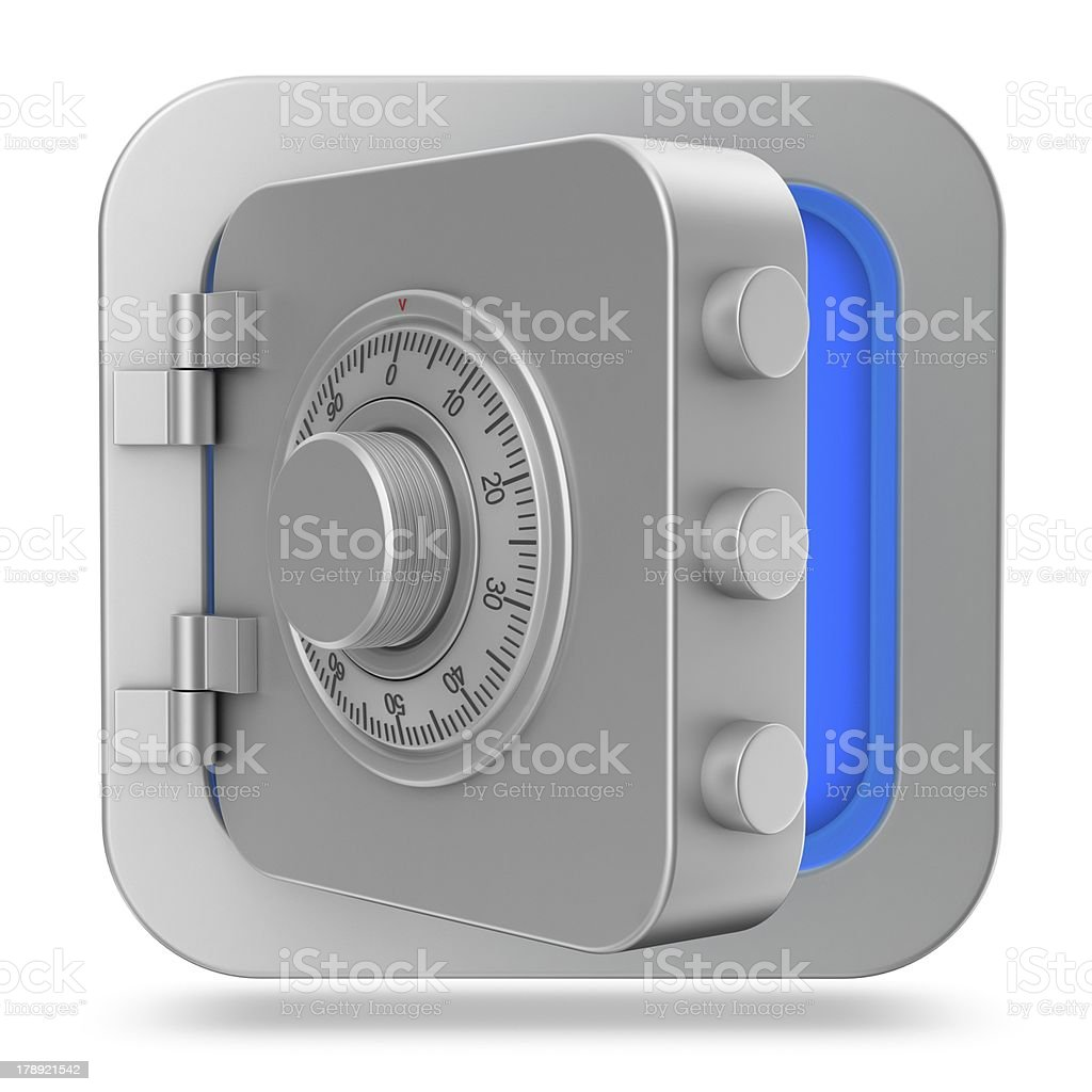 Open Safe - Icon in the Square royalty-free stock photo
