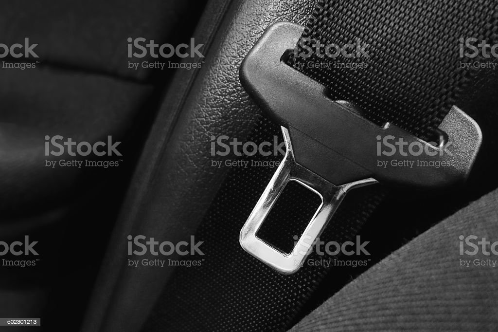 Open safety belt stock photo