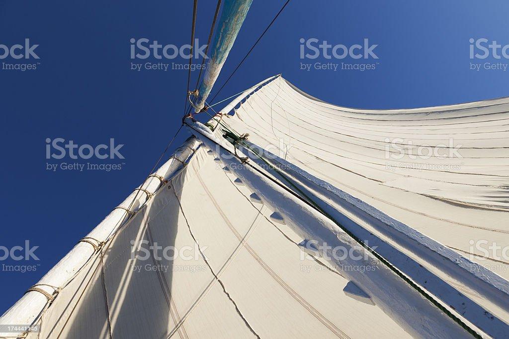 Open sail royalty-free stock photo