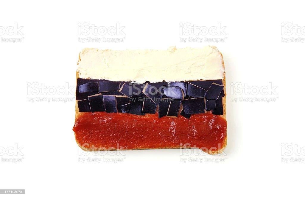 sandwich à la recherche comme Drapeau russe photo libre de droits