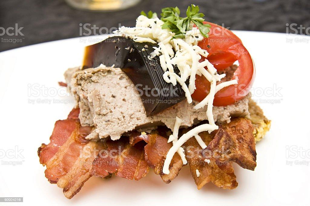 Open sandwich royalty-free stock photo