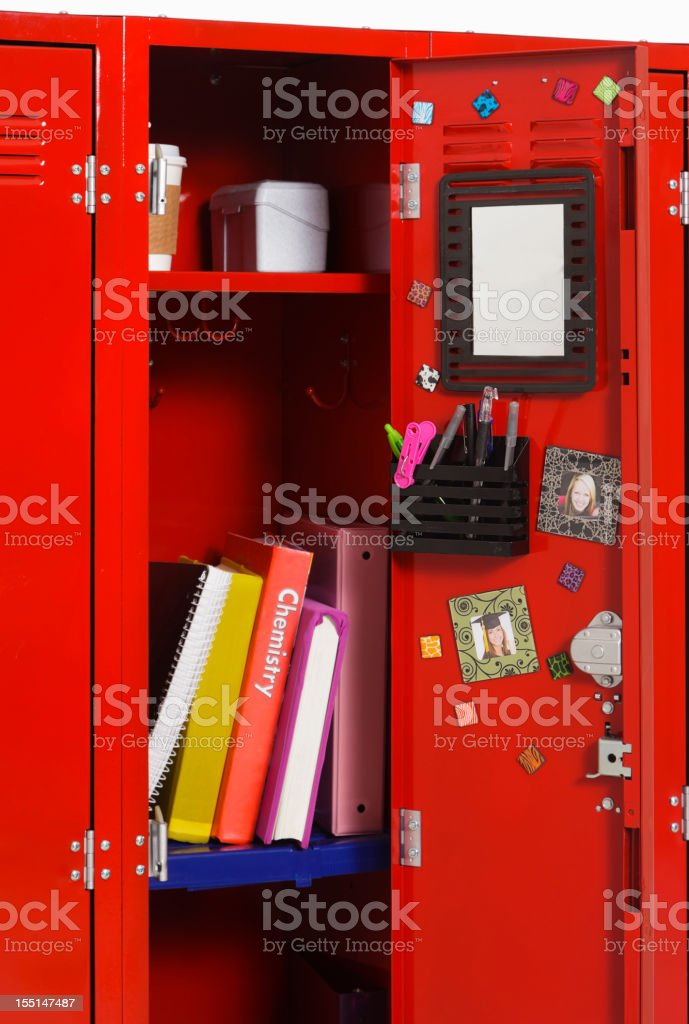 Open School Locker stock photo