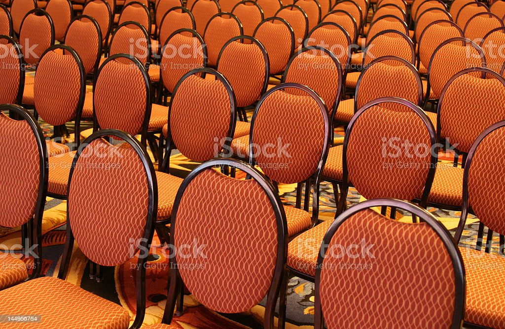 Open Seating at an Auditorium royalty-free stock photo