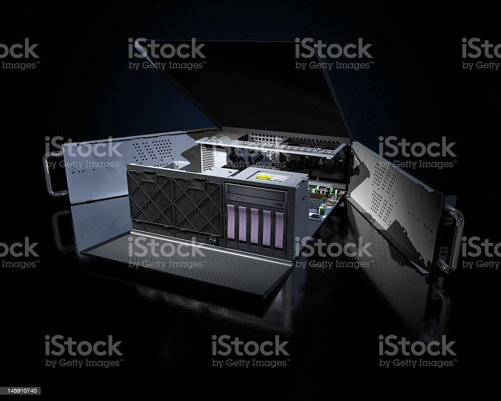 Open Server royalty-free stock photo
