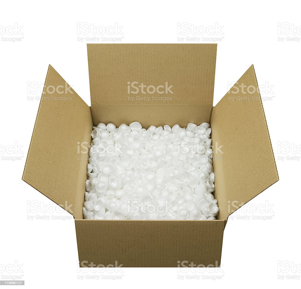 Open Shipping Box royalty-free stock photo