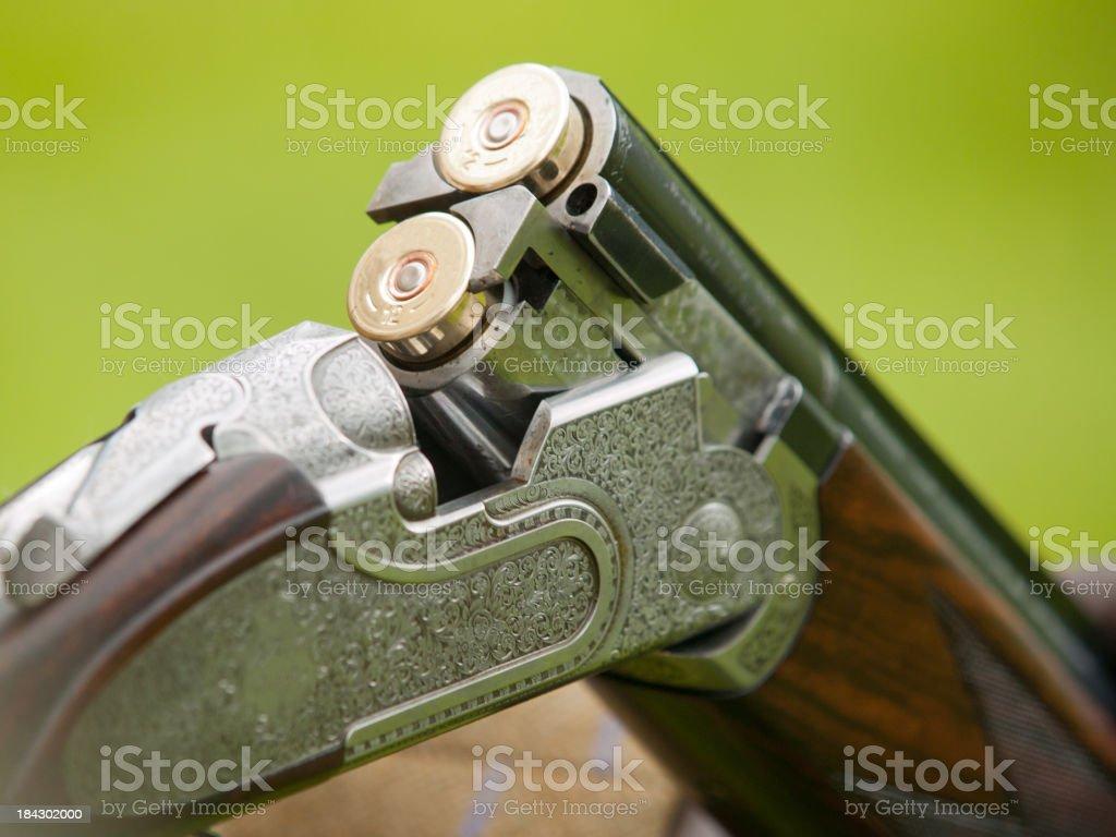 Open shotgun stock photo
