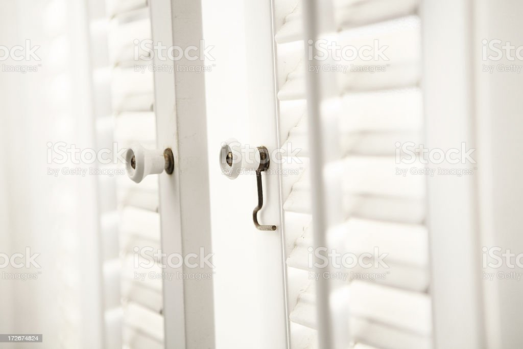 Open shutters royalty-free stock photo