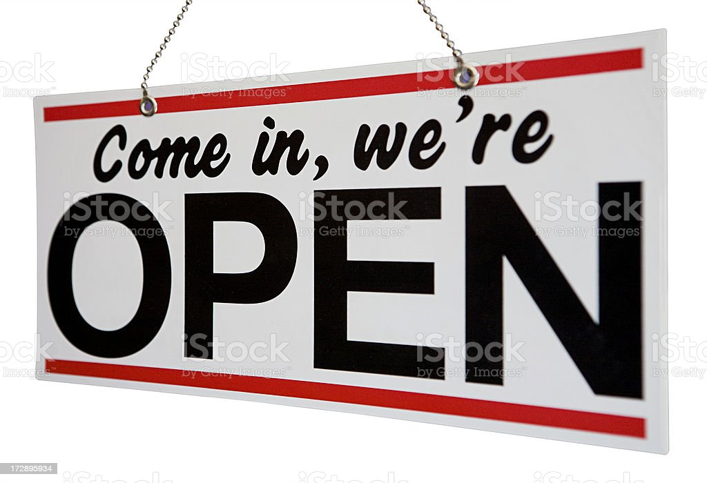 open sign royalty-free stock photo
