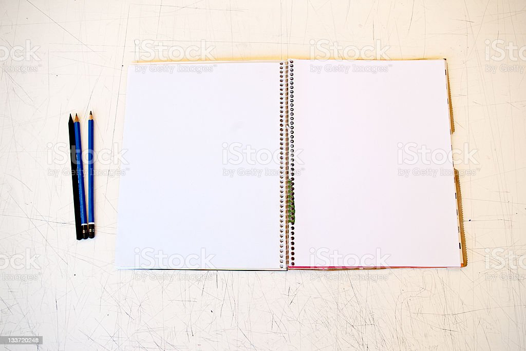 Open Sketchbook royalty-free stock photo