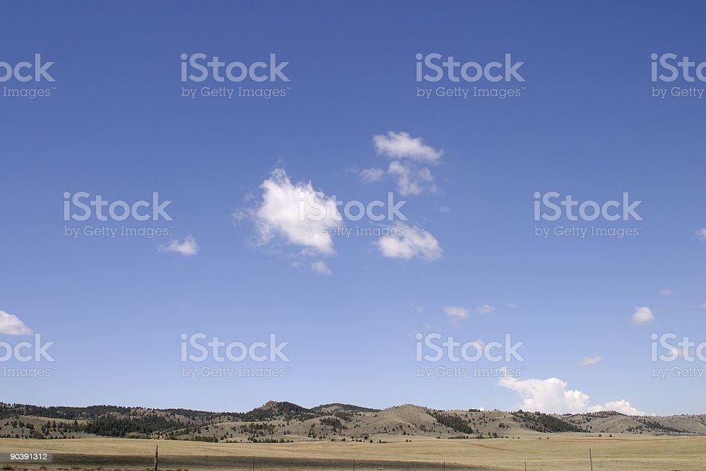 Open Sky in Colorado stock photo