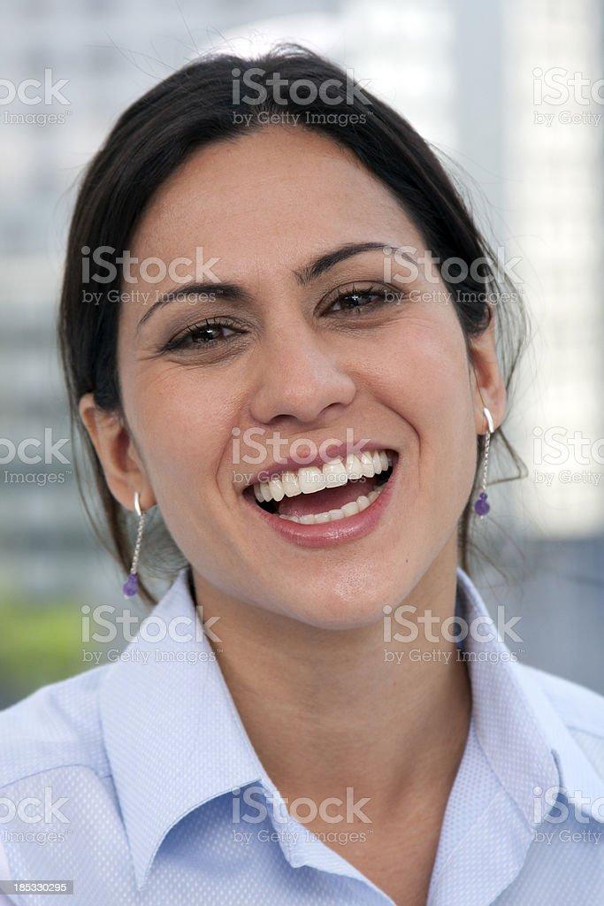 Open smile stock photo