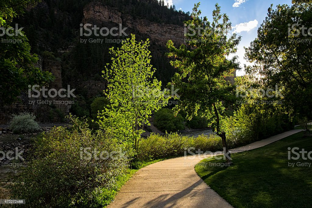 Open Space Park with Recreation Path stock photo