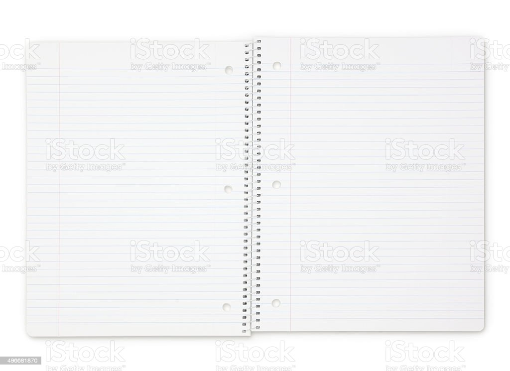 Open Spiral Notebook (with path) stock photo