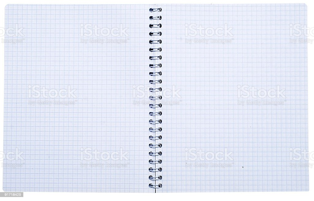 open spiral notebook royalty-free stock photo