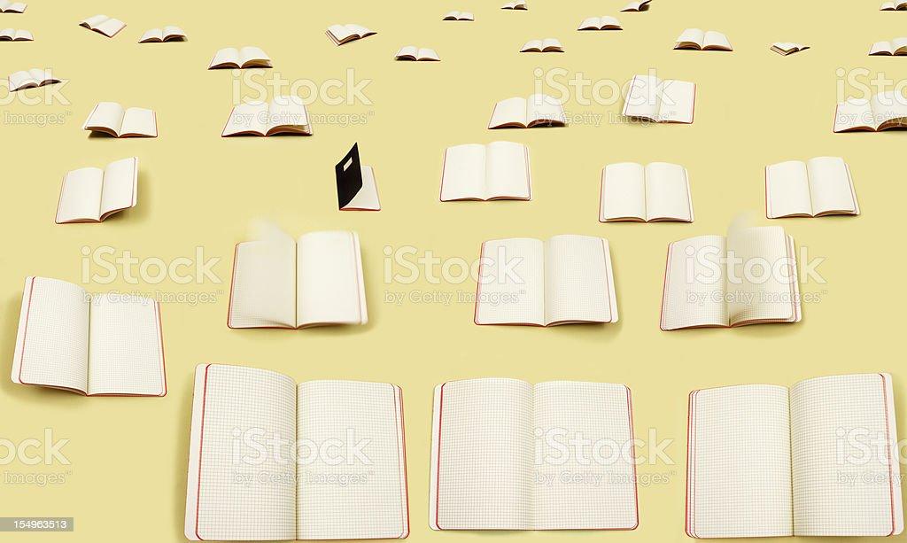Open squared notebooks, Quaderni a quadretti stock photo