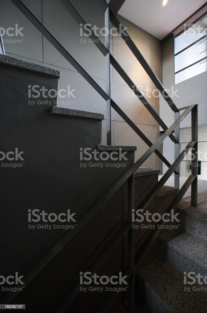 Open stairwell in a modern building royalty-free stock photo