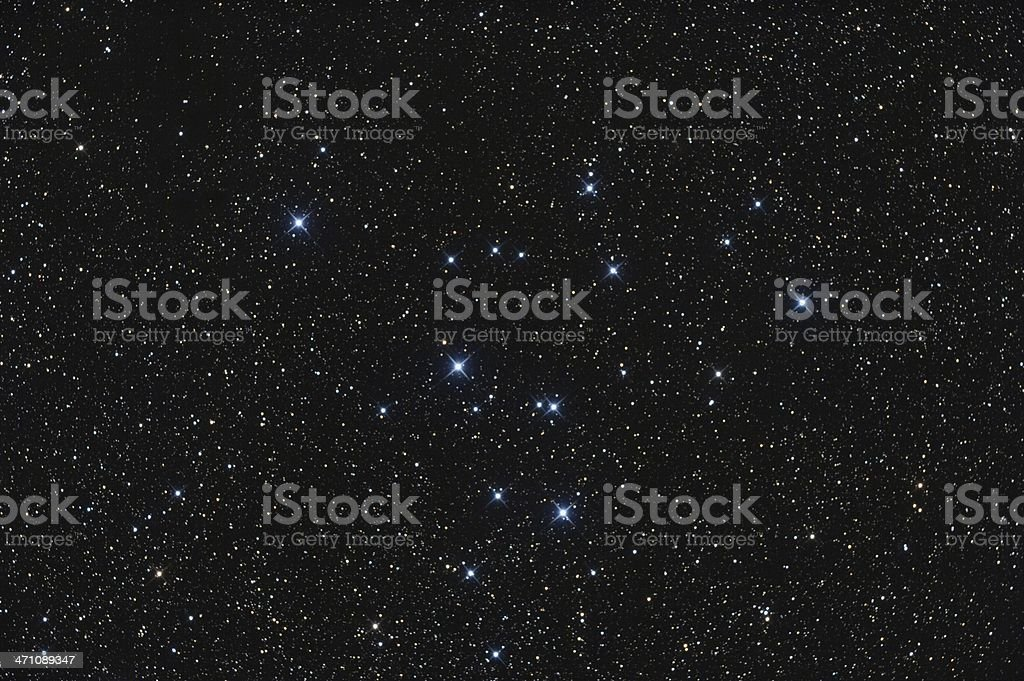 Open Star Cluster in the Constellation Swan royalty-free stock photo