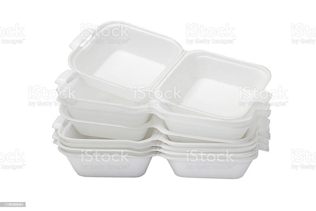 Open Styrofoam Boxes stock photo