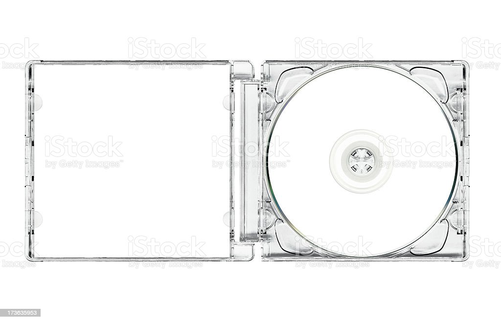 Open super jewel box with cd royalty-free stock photo
