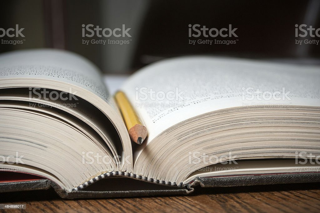 Open text book royalty-free stock photo