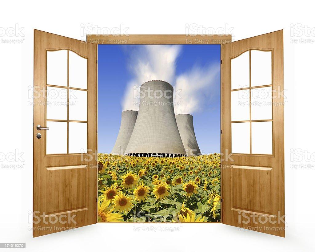 Open the door royalty-free stock photo