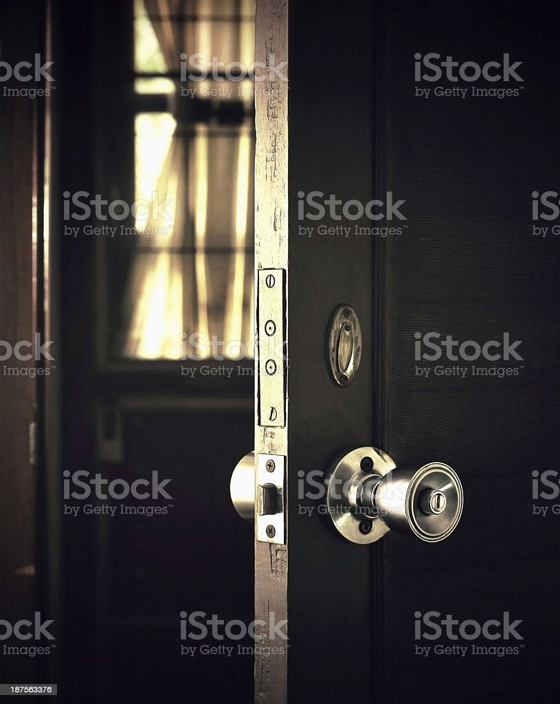 open the door stock photo