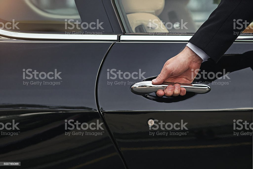 Open the door to a life of luxury stock photo