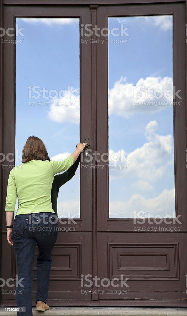 Open the door to heaven royalty-free stock photo