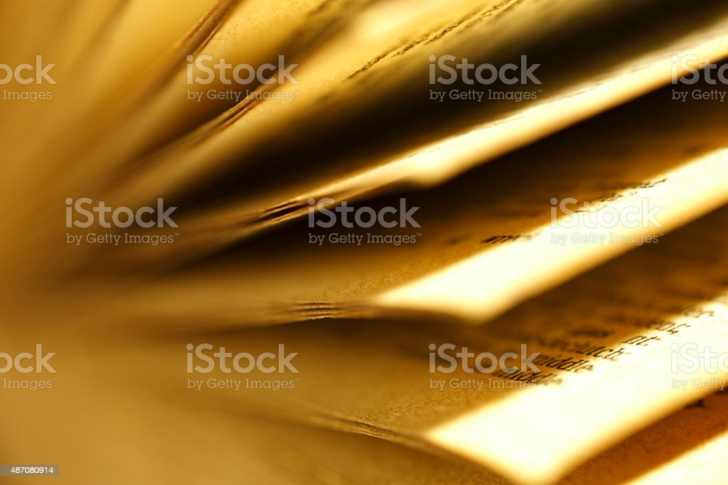 Open the pages of old books stock photo