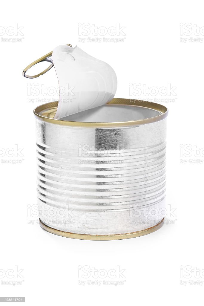 Open Tin Can stock photo