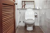open to toilet