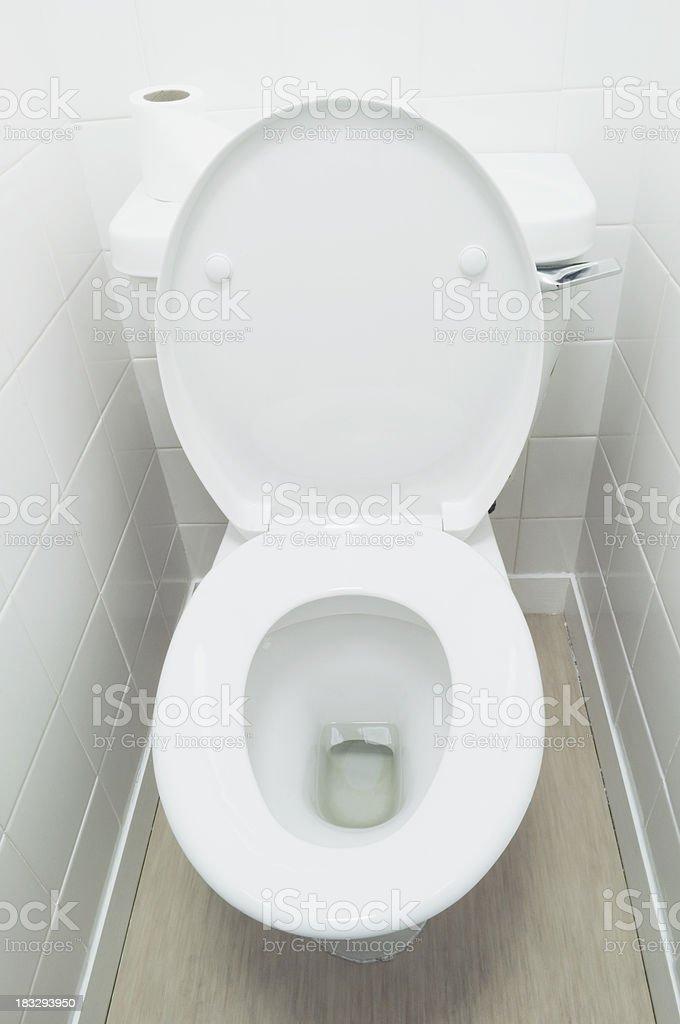 Open toilet stock photo
