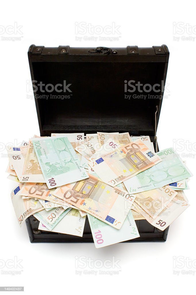 Open Treasure Chest stock photo