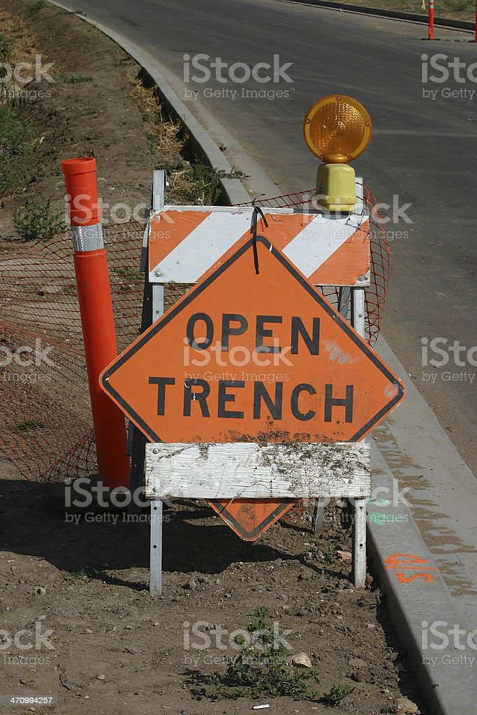 Open trench royalty-free stock photo