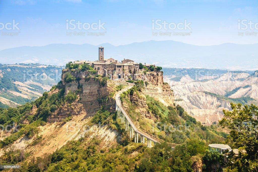 Open view of Civita di Bagnoreggio, Italy stock photo