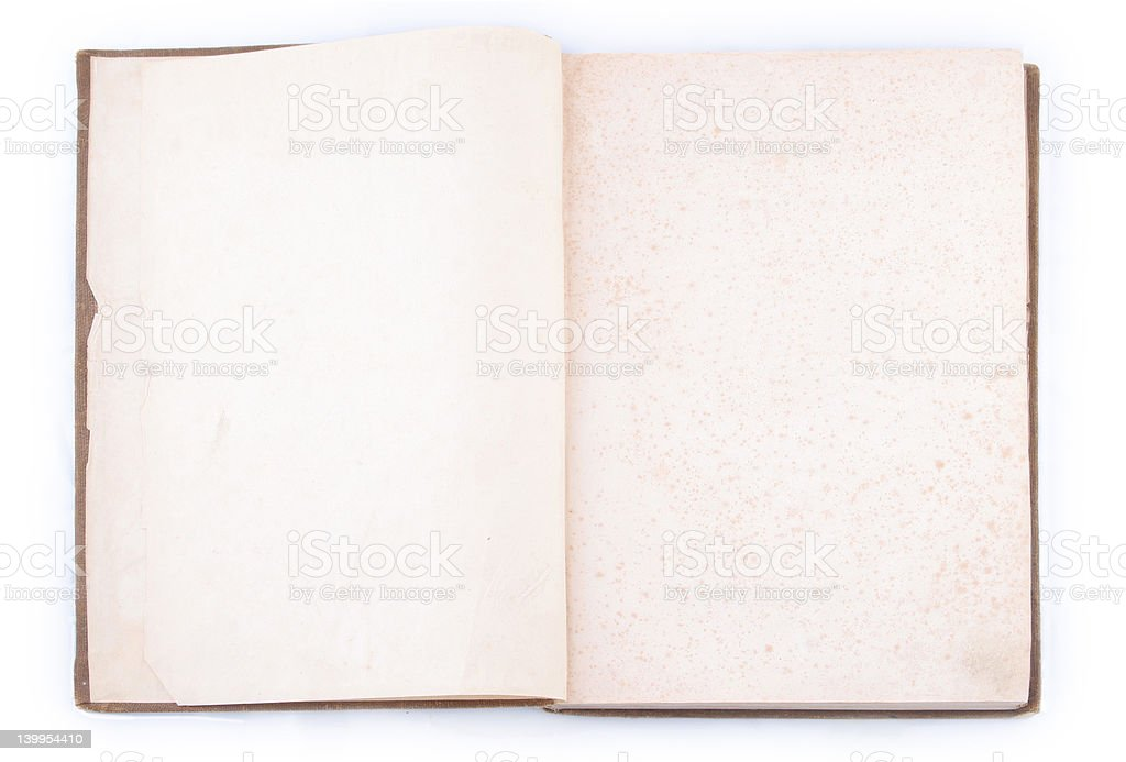 Open vintage book royalty-free stock photo