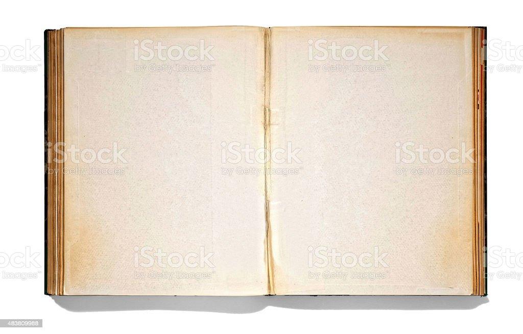 Open vintage book stock photo