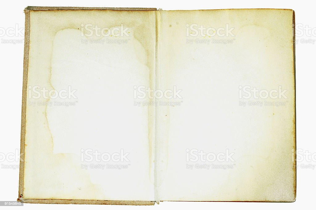 open vintage book #4 royalty-free stock photo