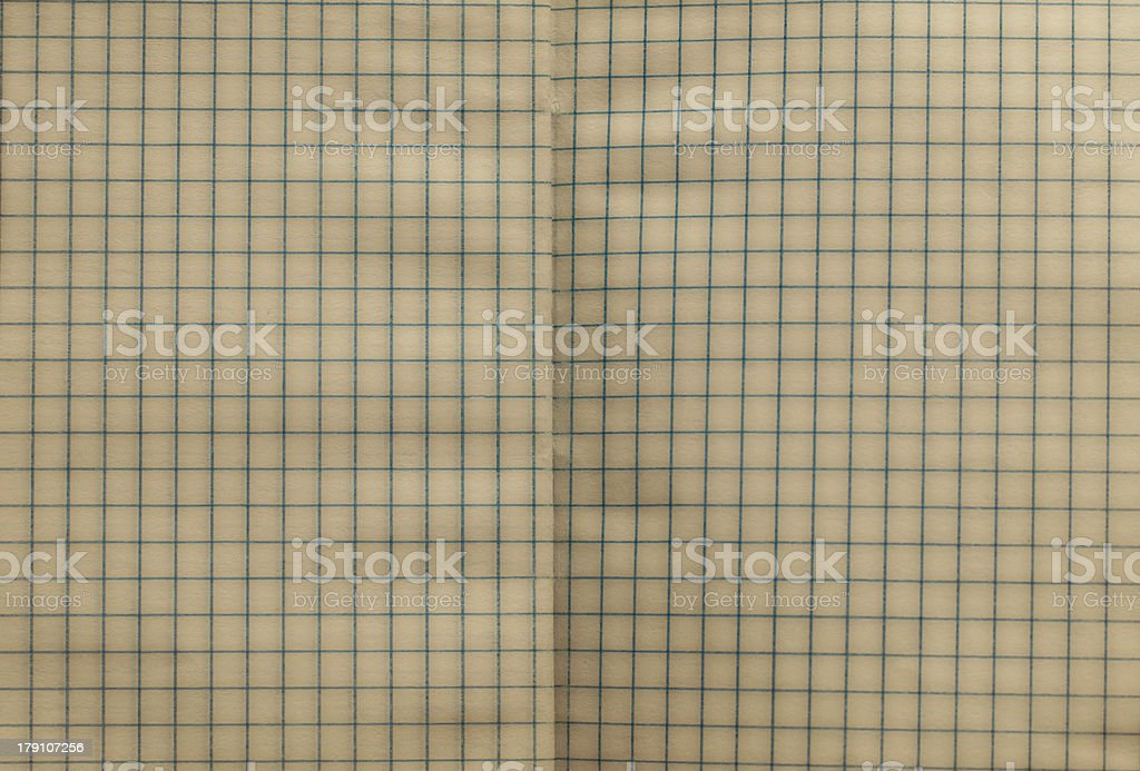open vintage squared notebook texture or background royalty-free stock photo